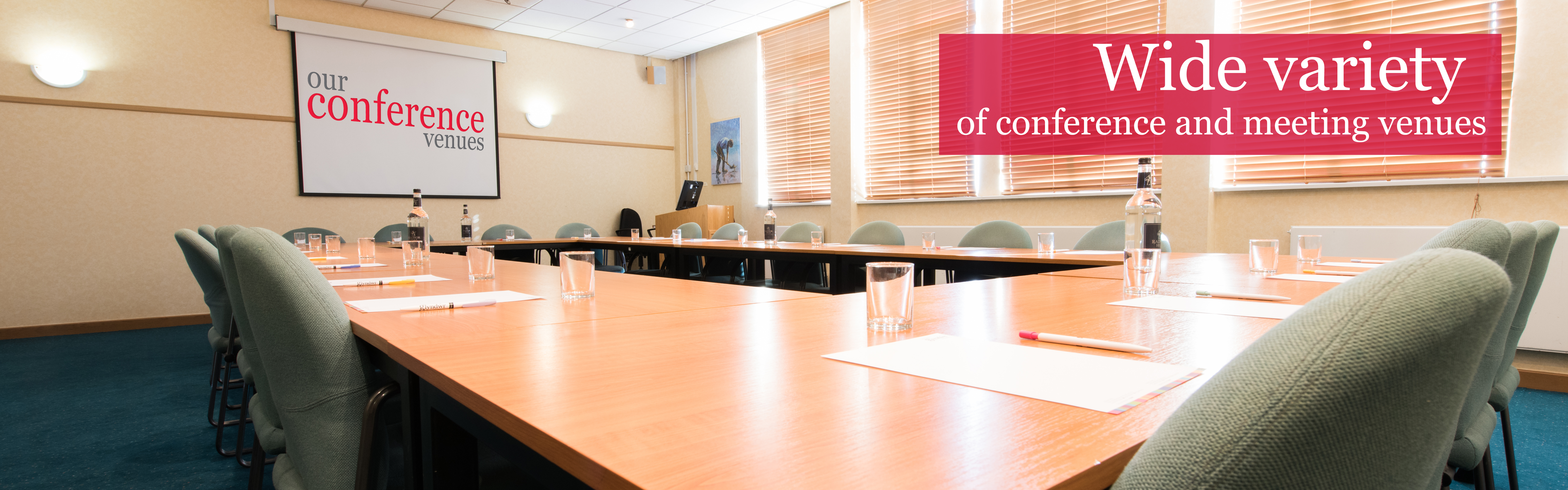 Wide variety of conference and meeting venues